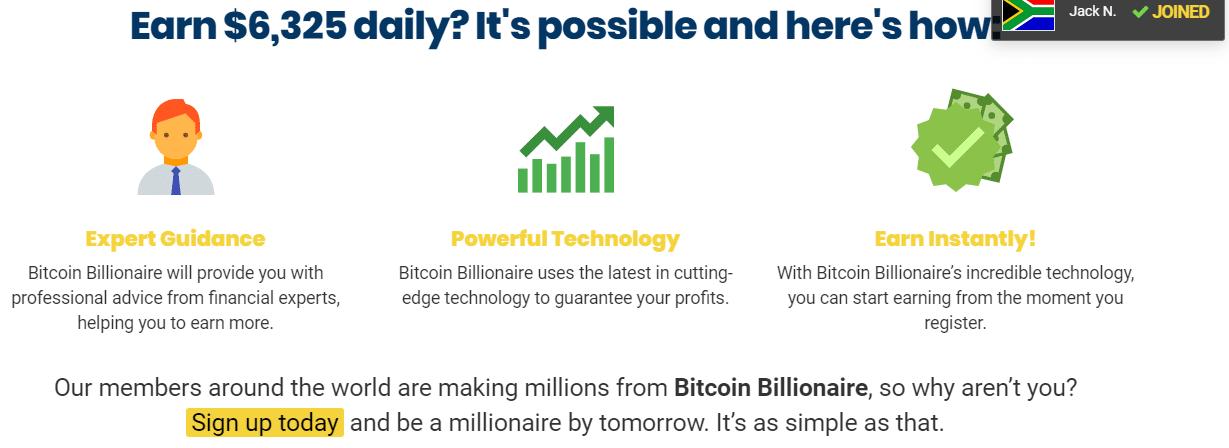 Comment fonctionne Bitcoin Billionaire?